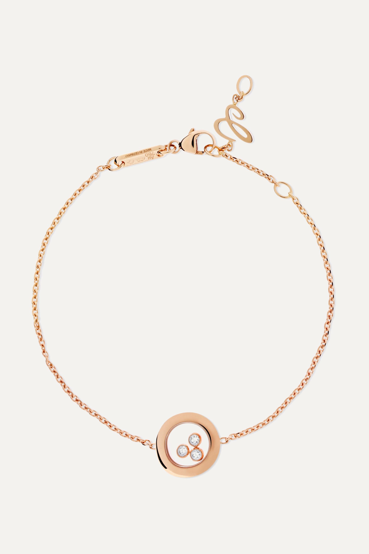 Chopard Happy Diamonds 18-karat rose gold diamond bracelet