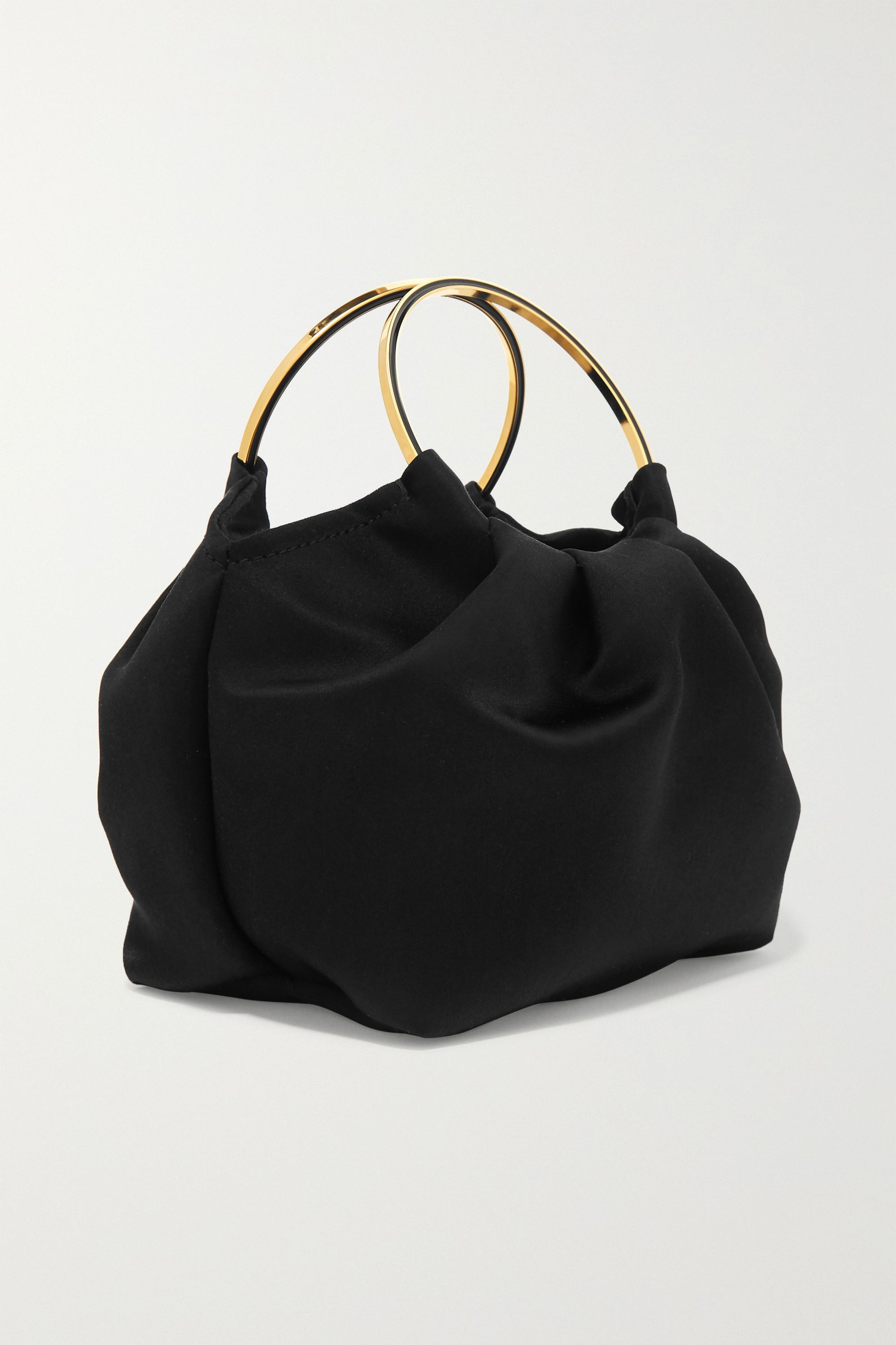 The Row Double Circle micro satin tote