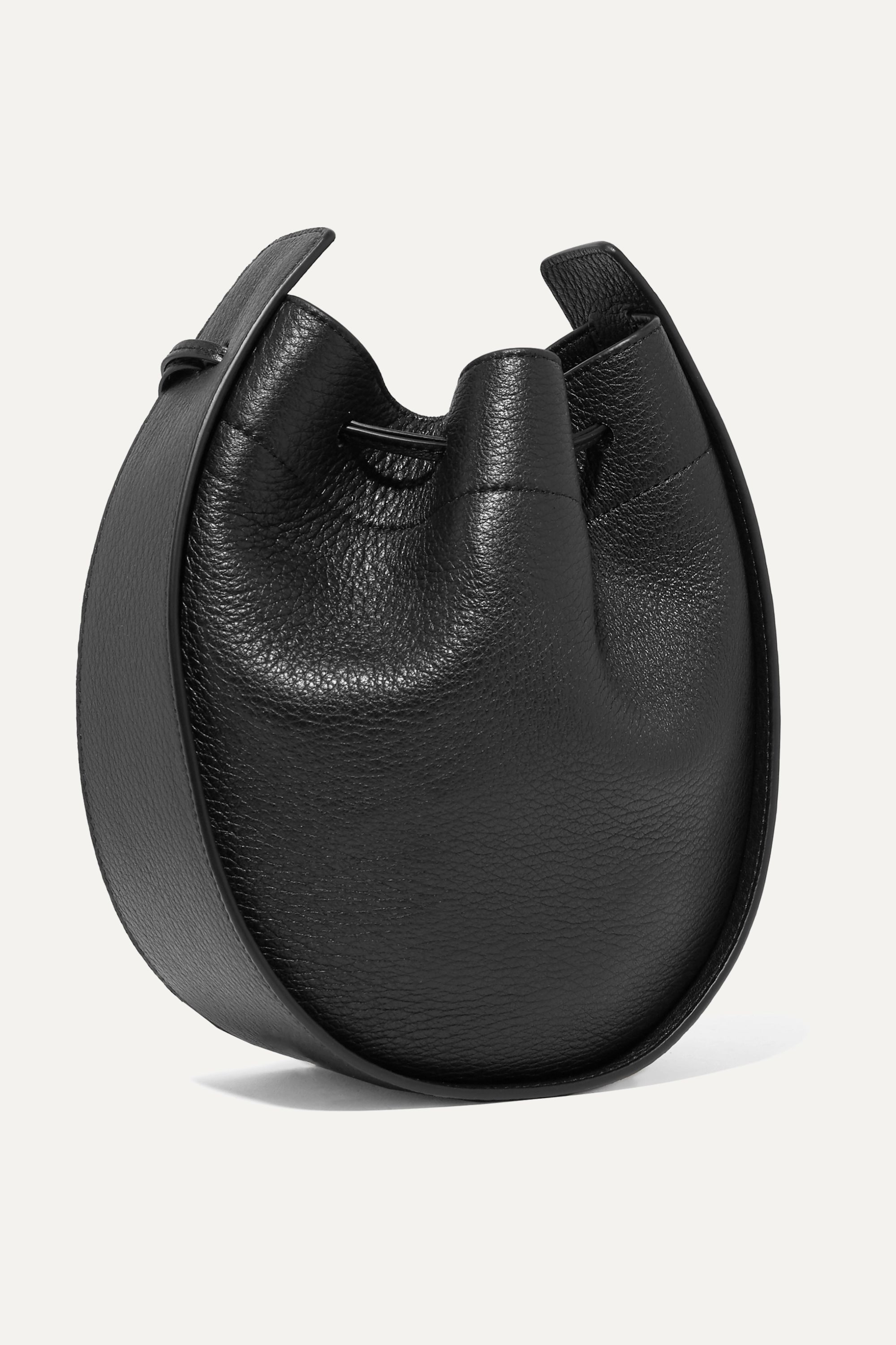 The Row Textured-leather shoulder bag