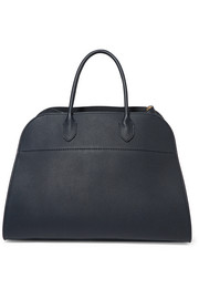 The Row Margaux 15 buckled textured-leather tote