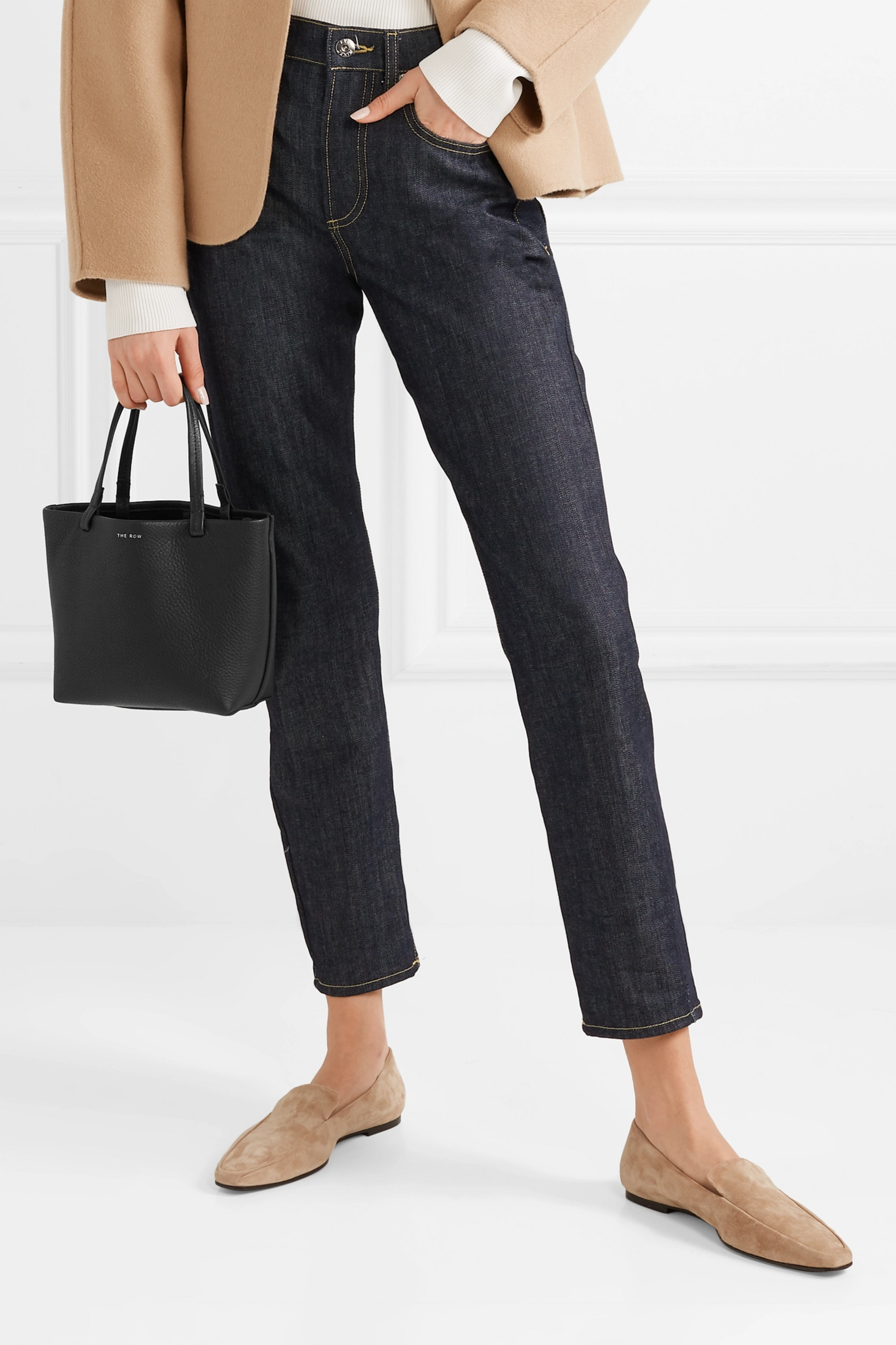 The Row Park small textured-leather tote