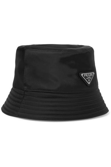 Appliquéd Shell Bucket Hat in Black