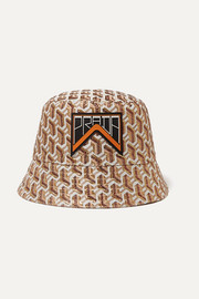 Prada Appliquéd metallic jacquard bucket hat