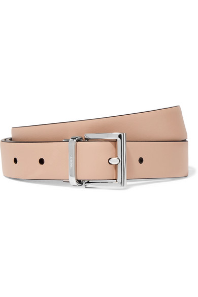 PRADA | Prada - Reversible Leather Belt - Beige | Goxip