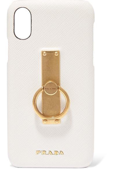 0ef1c9e37f Embellished textured-leather iPhone X case