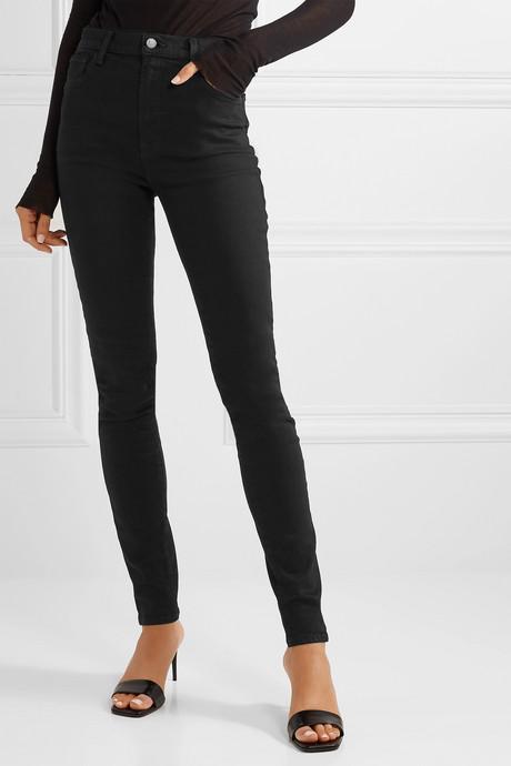 "Carolina 32"" high-rise skinny jeans"