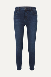 J Brand Alana cropped high-rise stretch skinny jeans