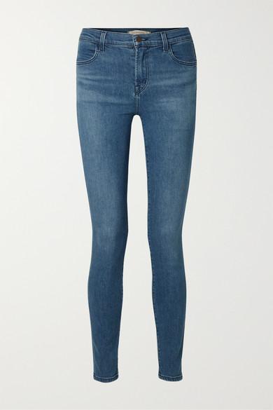 Maria High Waist Skinny Jeans in Mid Denim