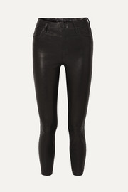 Alana cropped leather skinny pants