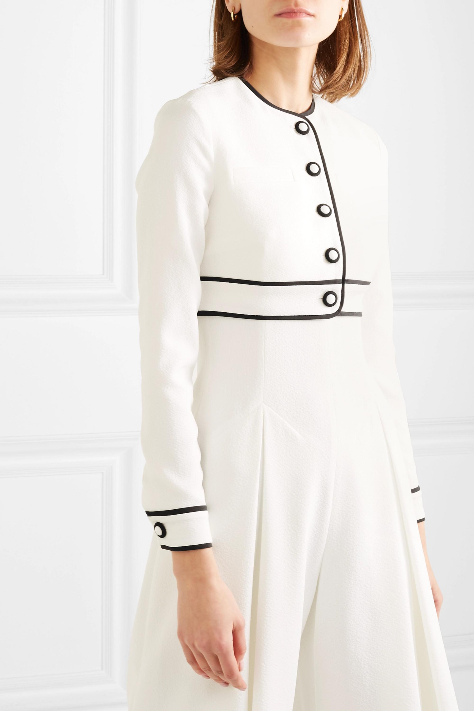 Emilia Wickstead Justine cropped cloqué jacket