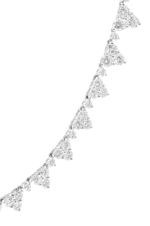 Anita Ko Triangle Eternity 18-karat white gold diamond choker