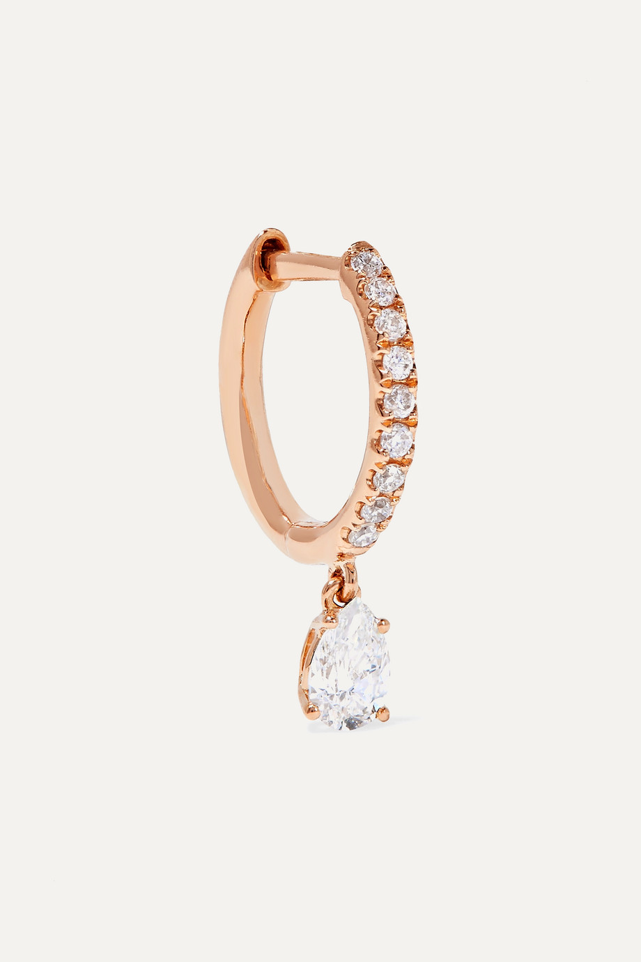 Anita Ko Huggies 18-karat rose gold diamond earring