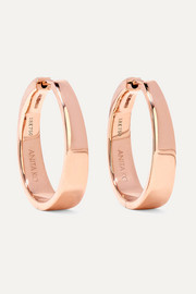 Meryl 18-karat rose gold hoop earrings
