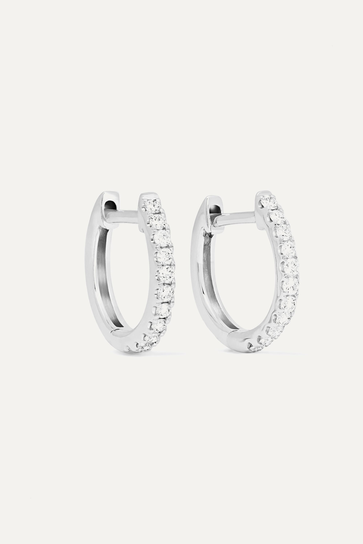 Anita Ko Huggies 18-karat white gold diamond earrings