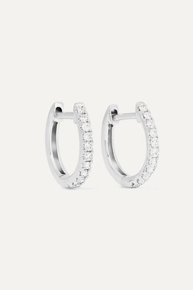 Huggies 18 Karat White Gold Diamond Earrings