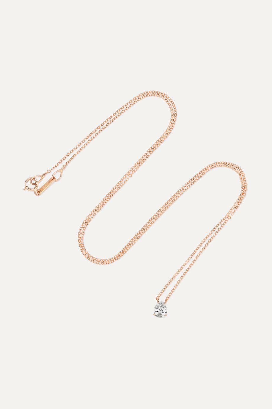Anita Ko Collier en or rose 18 carats et diamant