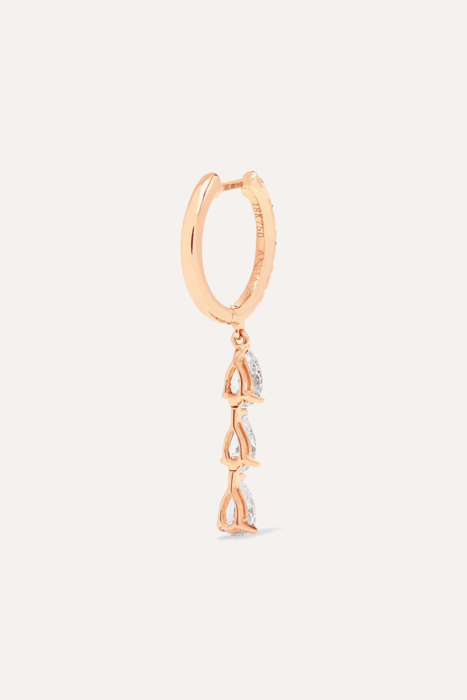 Anita Ko 18-karat rose gold diamond hoop earring