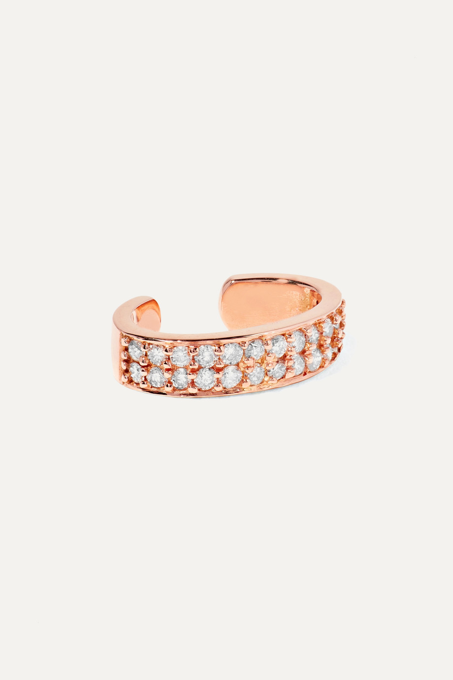 Anita Ko Huggies 18-karat rose gold diamond ear cuff