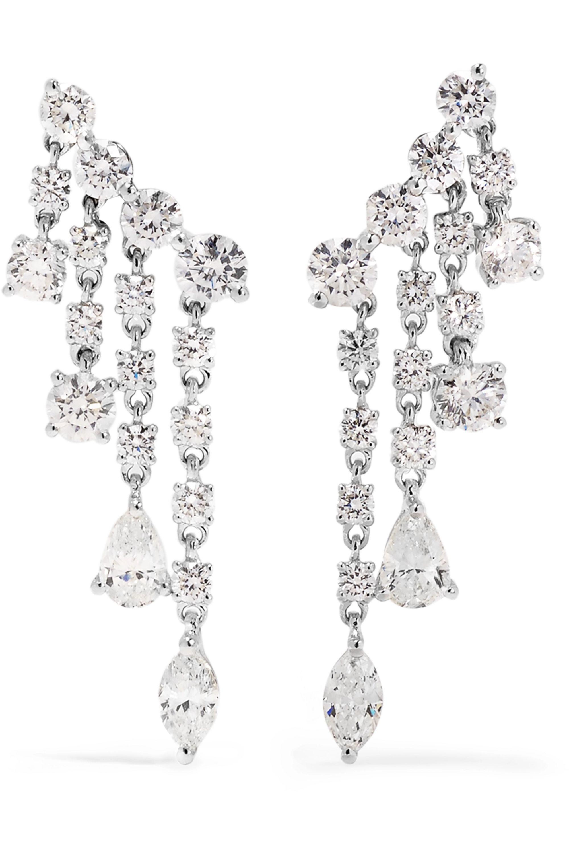 Anita Ko Rain Drop 18-karat white gold diamond earrings