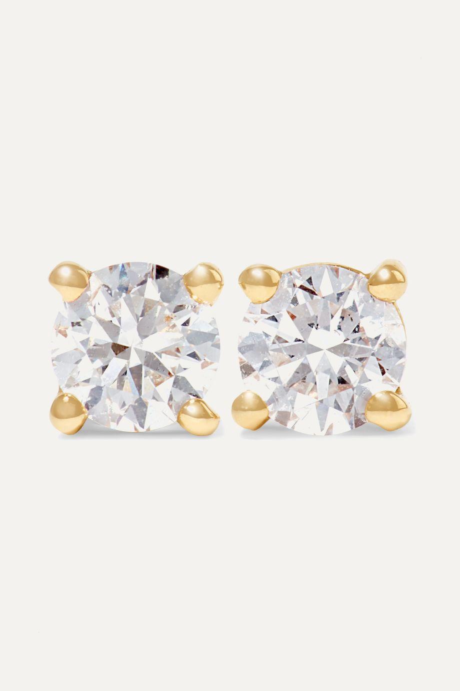 Anita Ko 18-karat gold diamond earrings