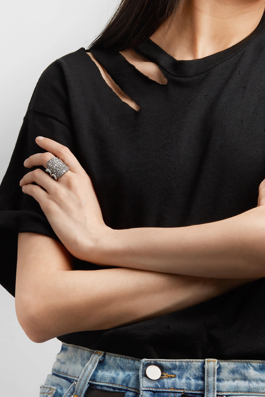 White Gold 18-karat Gold, Sterling Silver And Diamond Ring   Sylva & Cie