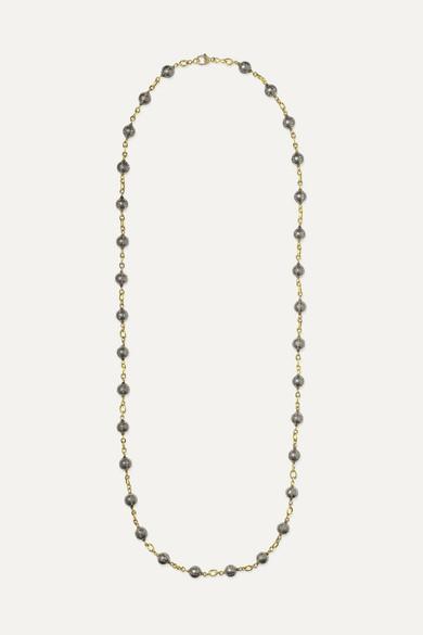 SYLVA & CIE 18-Karat Gold, Sterling Silver And Diamond Necklace