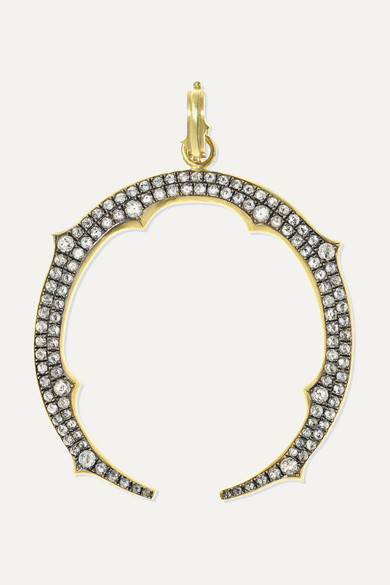 SYLVA & CIE 18-Karat Gold Diamond Pendant