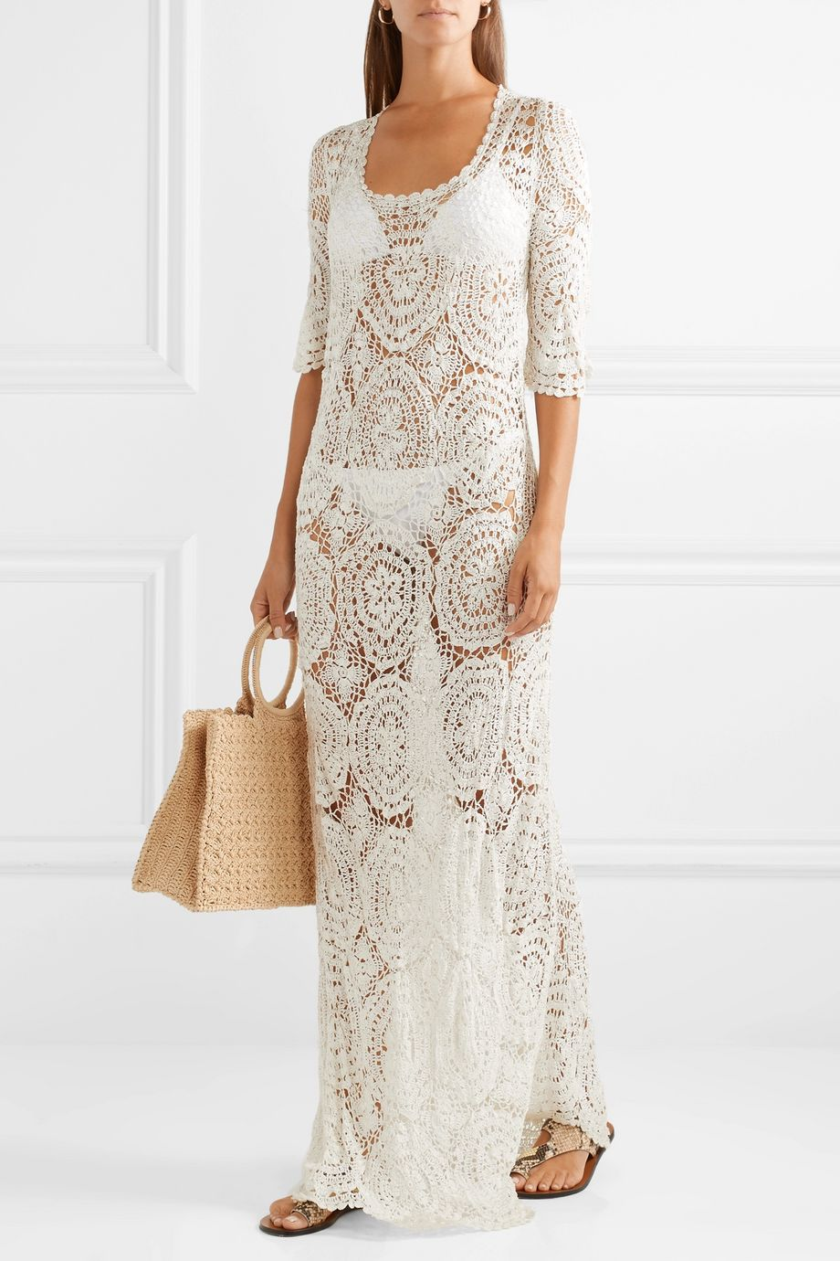 LoveShackFancy Helen crocheted lace maxi dress