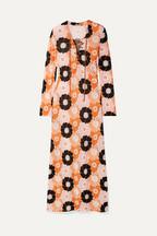 5b7e05dcbd22 Miu Miu Suede-trimmed floral-print stretch-jersey maxi dress