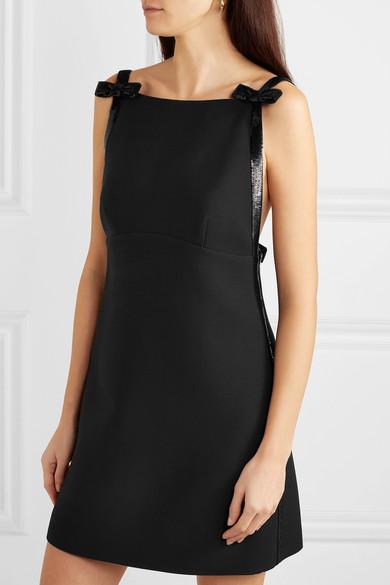8d0a971371d Miu Miu. Sequined open-back wool and silk-blend cady mini dress