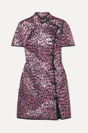 Miu Miu Metallic jacquard mini dress