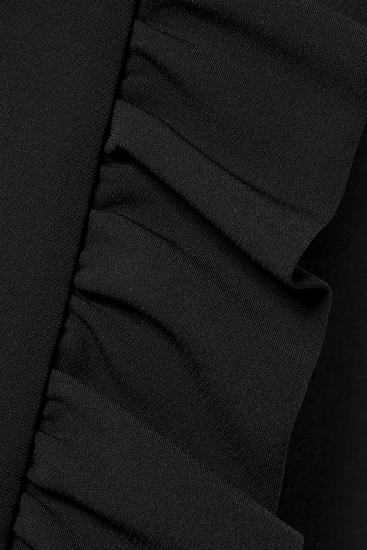 Miu Miu Ruffled cady wrap mini skirt