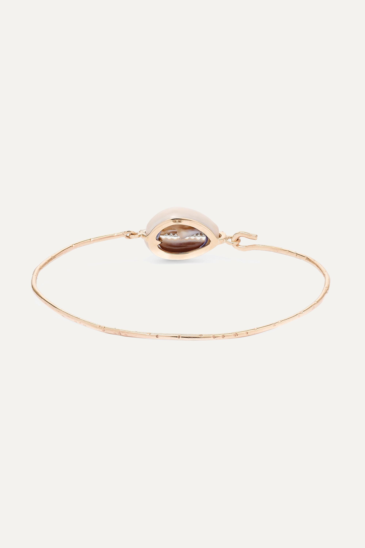 Pascale Monvoisin Cauri 9-karat gold, porcelain and diamond bracelet