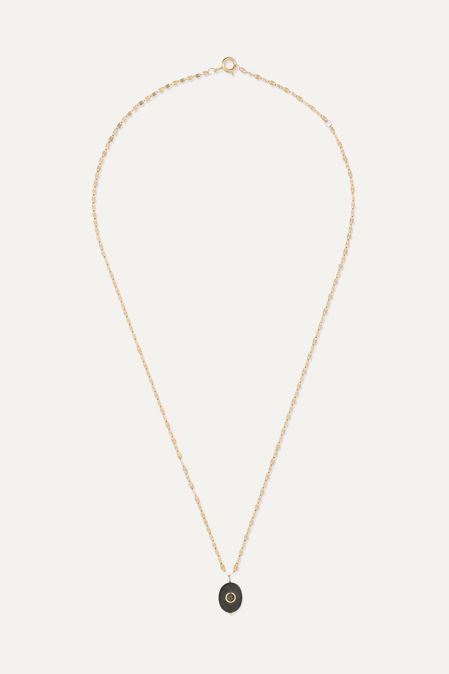 Pascale Monvoisin Holi 14-karat gold, tiger's eye and diamond necklace