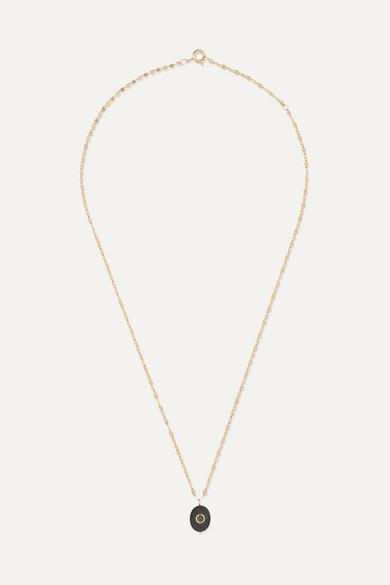PASCALE MONVOISIN Holi 14-Karat Gold, Tiger Eye And Diamond Necklace