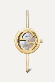 18-karat gold mother-of-pearl watch