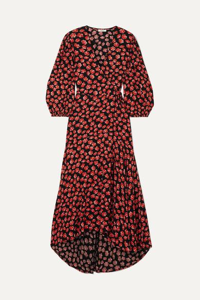442a446eac GANNI   Floral-print crepe de chine wrap dress   NET-A-PORTER.COM
