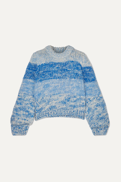 Julliard Striped Mohair And Wool-Blend Sweater in Blue