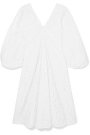 Falcon broderie anglaise cotton midi dress