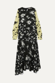 Marin floral-print georgette maxi dress