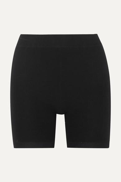 NAGNATA Technical Stretch-Organic Cotton Shorts in Black
