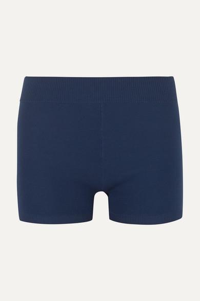 NAGNATA Technical Stretch-Organic Cotton Shorts in Navy