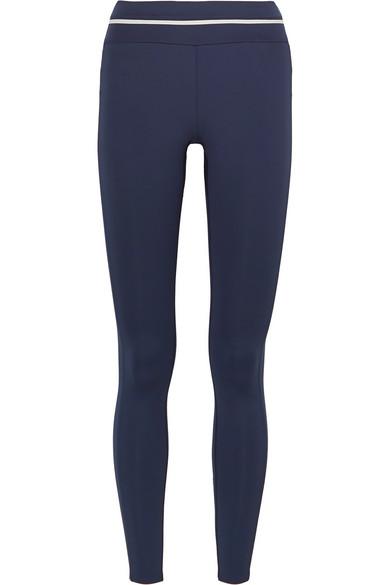 VAARA | Vaara - Piper Striped Stretch Leggings - Navy | Goxip