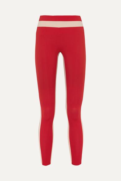 VAARA | Vaara - Freya Tuxedo Stretch Leggings - Red | Goxip