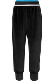 Epaki cotton-blend velour track pants