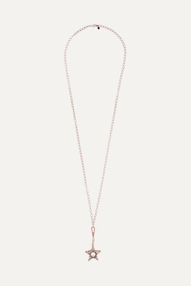 SELIM MOUZANNAR Istanbul 18-Karat Rose Gold, Pearl And Diamond Necklace