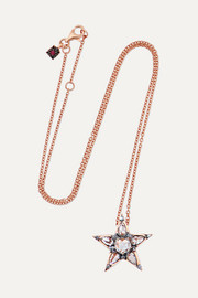 Istanbul 18-karat rose gold diamond necklace