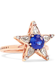 18-karat rose gold, sapphire and diamond ring