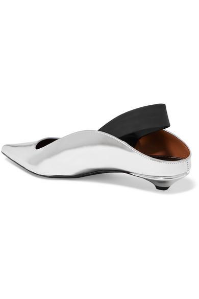Proenza Schouler Mules Metallic leather slingback mules