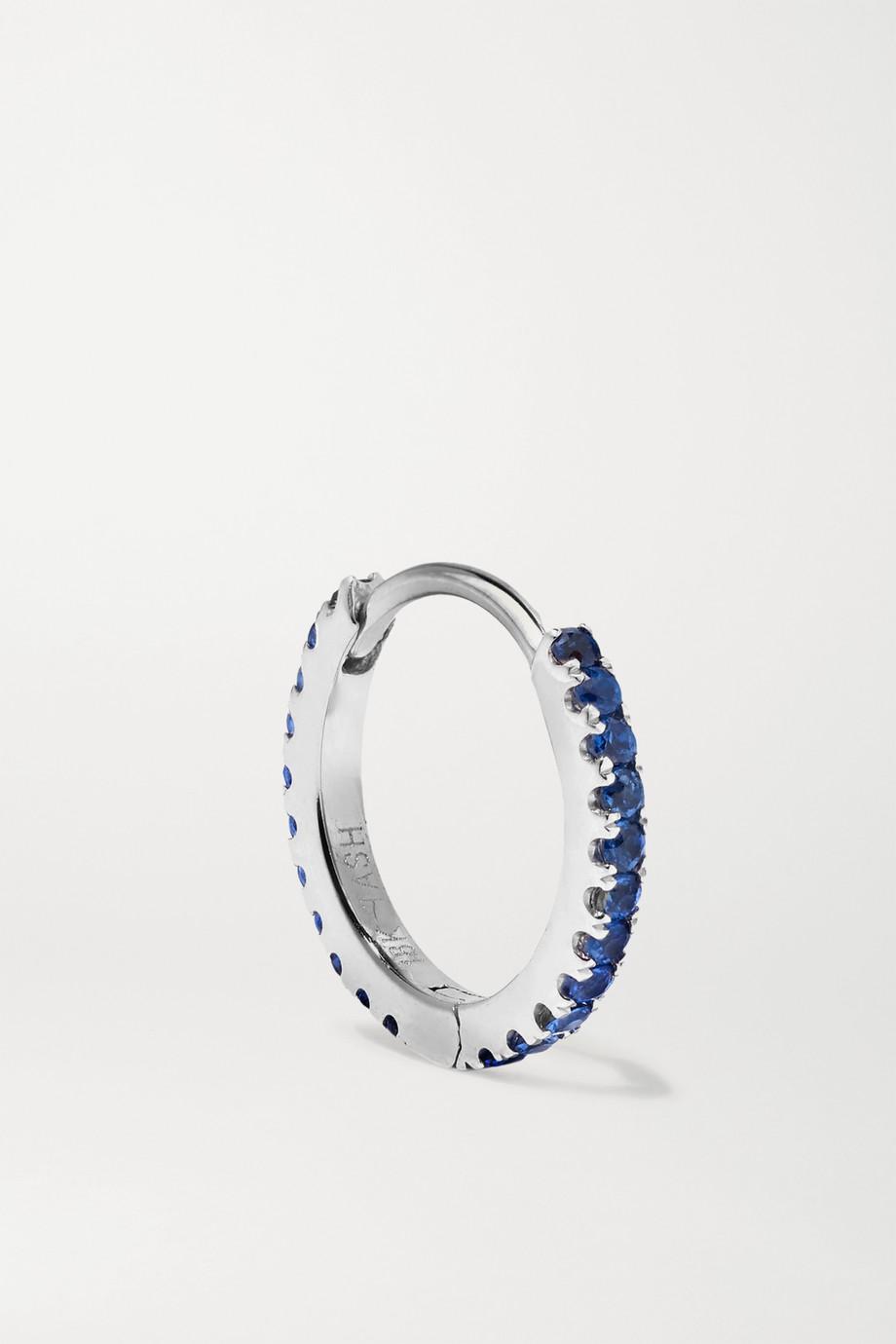 Maria Tash 8mm 14-karat white gold sapphire hoop earring
